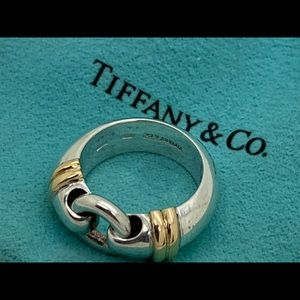 Tiffany&co 18KT 925 Italy Vintage Ring Size 6